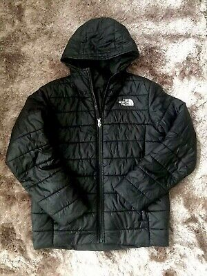 The North Face Boys Perrito Coat Jacket Size Large Reversible Black