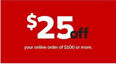 Staples $25 OFF $100 online order coupon.exp 2/21/2020