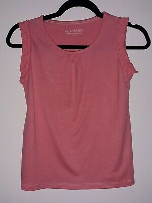 New. Girls T.shirt. Coral Pink. Age 11-12.Mini Boden.vest Top Style. Bnwot.