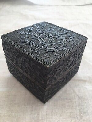 Antique Chinese Bronze Box Late 18th Early 19th Century
