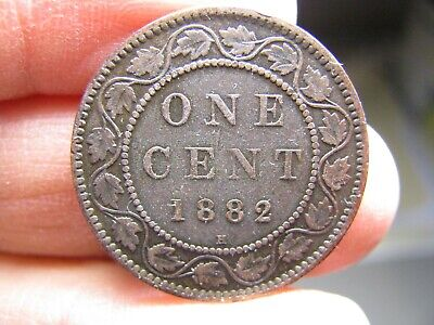 Canada large 1 Cent 1882H coin Victoria