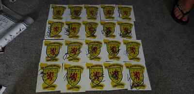 Job Lot Of 20 Signed Scotland Football Crest Photos Mccoist Mcarthur Caldwell ++