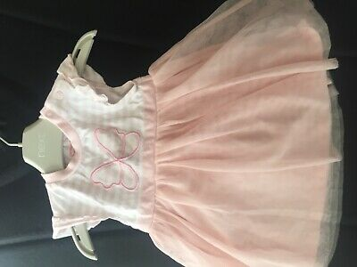 Bluezoo, babygirl dress, 0-3 months, butterfly, pink, tulle, cute 🦋