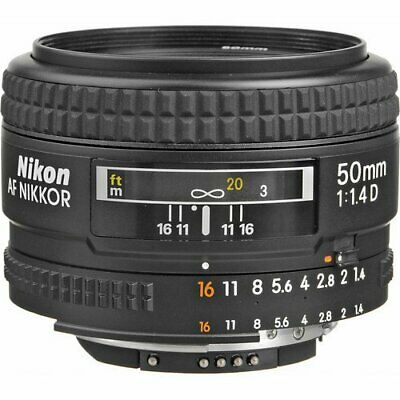 Nikon AF FX NIKKOR 50mm f/1.4D Fixed Zoom Lens +Auto Focus for Nikon DSLR Camera