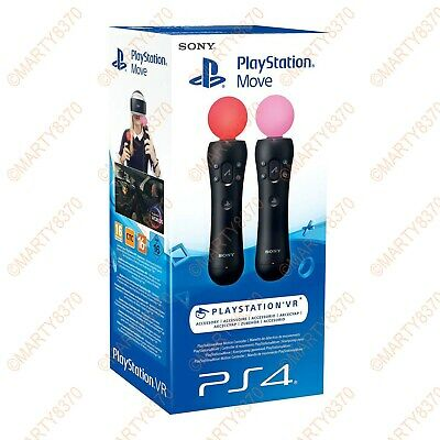 Genuine Sony PlayStation VR Move Motion Controller Twin Pack PSVR UK Seller