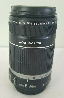 Canon EF-S 55-250mm F/4-5.6 IS Telephoto Zoom Lens for EOS DSLR Camera VERY GOOD