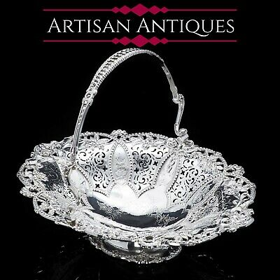 A Stunning Large Victorian Solid Silver Basket - Martin Hall & Co 1858