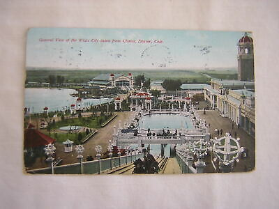 GENERAL VIEW OF THE WHITE CITY TAKEN FROM CHUTES, Denver, CO.  1909