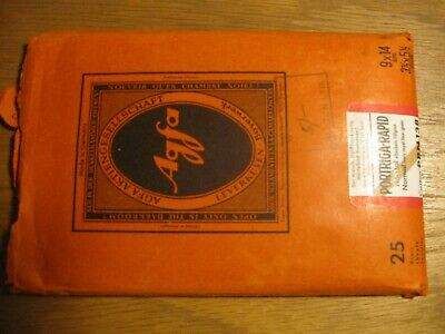 Vintage AGFA Portriga-Rapid 1950's photographic paper packed and sealed 9 x 14cm