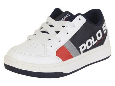 Polo Ralph Lauren Little//Big Boy/'s Oryion-II Navy//Yellow Sneakers Shoes