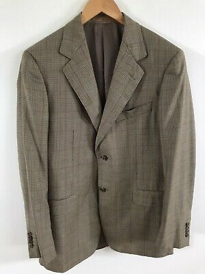Ermenegildo Zegna Neiman Marcus Mens Tan Wool Suit Jacket Sports Coat 48 R