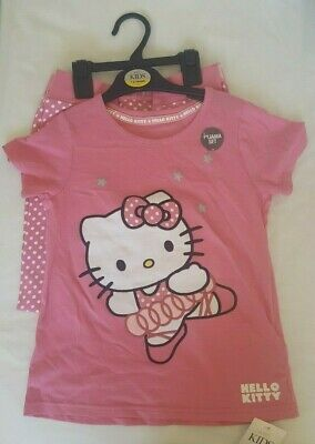 BNWT Marks and Spencer (M&S) girls pink Hello Kitty Pyjamas age 7-8