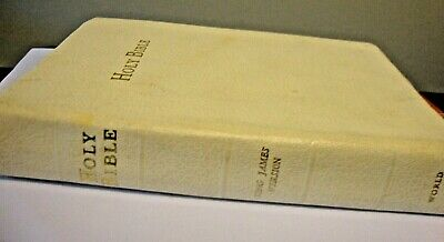The Holy Bible King James Version White Old and New Testament