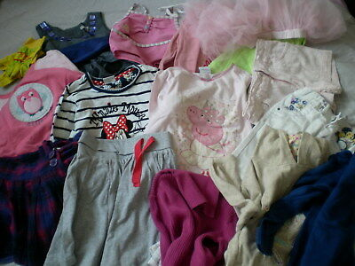 Girl Cloths Dress Trousers Top M&S Peppa Pig Disney Bundle Job Lot 3-7 Years