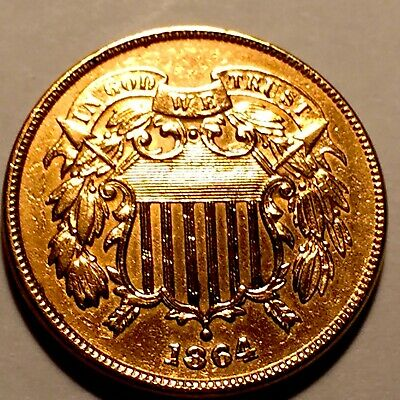 1864 Two Cent Piece  * Choice BU Red * #3
