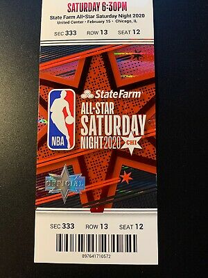 2020 Nba All Star Saturday Night Dunk Contest, Ticket Stub In Perfect Condition