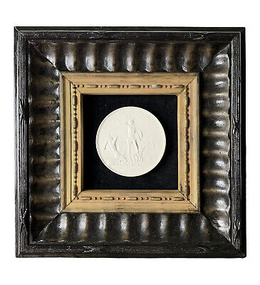 1829 Rusian Imperial Grand Tour Plaster Cameo in Terracotta Frame