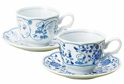Snoopy Tea Cup and Saucer Pair Japanese Pattern Set PEANUTS