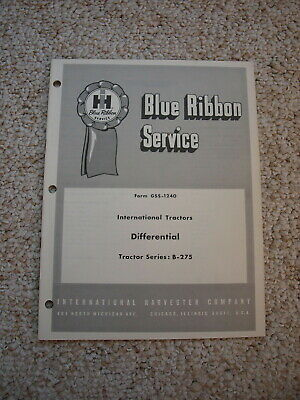IH B275 Tractor Differential Service Shop Manual International Harvester GSS1240
