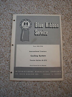 IH B275 Tractor Cooling Syst Service Shop Manual International Harvester GSS1246