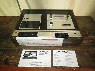 """""""RARE"""" MARLUX 2000 Stereo Cassette Tape Deck with Dolby Noise Reduction Japan !!"""
