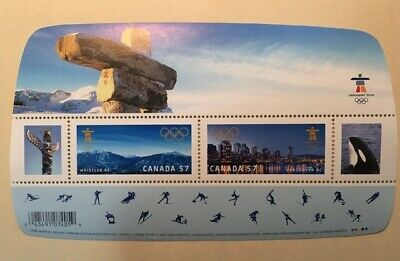 Canada Stamps #2366 Vancouver 2010 Olympic Games Souvenir Sheet MNH CV $3.00