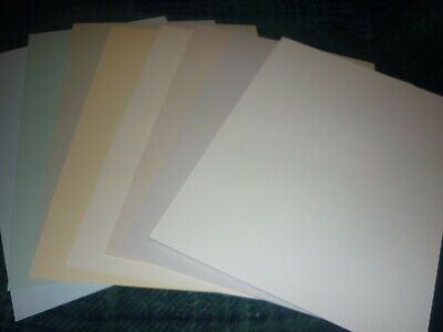 8 Assorted Pastel Coloured Sheets Of Hunkydory Adorable Scorable A4 Card (Y)