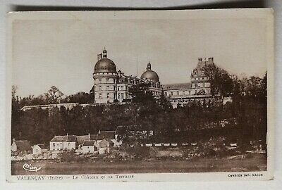 #862 Antique Postcard Valençay the Castle and Sa Terrace