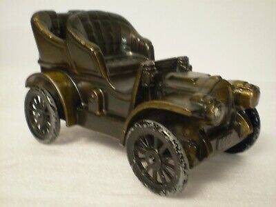 1906 OLDSMOBILE CAR ~Cast Metal Coin Bank by Banthrico Inc Chicago, USA ~Vintage