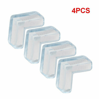 4PC Clear Rubber Furniture Corner Edge Cushion Table Guard Protector Baby Safty