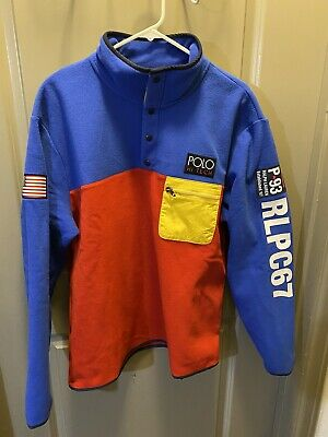 NWT POLO RALPH LAUREN HI TECH CP93 Fleece Pullover Mens Size Large $198