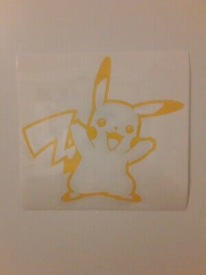 pokemon pikachu vinyl sticker decal for windows bumper doors laptops tumblers