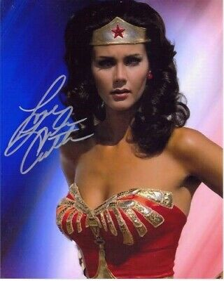 Lynda Carter, Wonder Woman, Actress, Hand Signed 8X10 Photo With Coa
