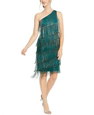 Adrianna Papell Beaded Fringe Dress MSRP $249 Size 2 # 20B 114 Blm