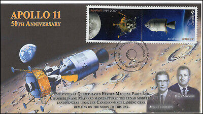 CA19-023, 2019, Apollo 11, Pictorial Postmark, First Day Cover, 50th Anniversary