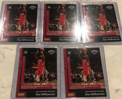 Lot Of (5) 2019-20 PANINI INSTANT NBA #76 ZION WILLIAMSON RC DEBUT Rookie Card