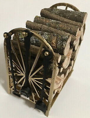 1:12 Scale Basket Of Fixed Logs Fire Wood Tumdee Dolls House Garden Accessory