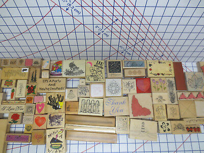 6 lb Box lot 71 Rubber Stamps - Stampendoi Dk Stampa Rosa Hero Great Impressions