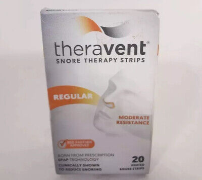 Theravent Snore Therapy Strips Regular Moderate Resistance 20 Vented Strips
