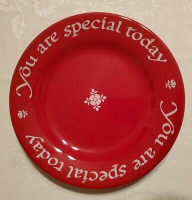 You Are Special Today The Original Red Plate Co 1979 Germany Waechtersbach