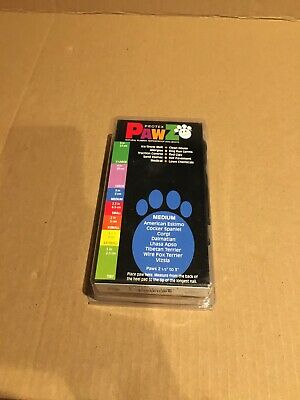 """PawZ Protex Dog Boots Water Proof Paws Disposable Reusable Medium 3"""" 8cm 12 pack"""