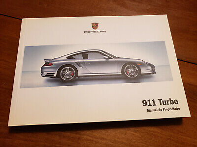 Genuine 2008 Porsche 911 997 Turbo Owners Manual - French Language