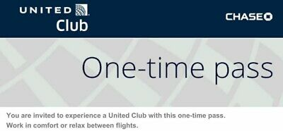 United Airlines Club | UA Lounge One Time Pass | Email Delivery | Exp 3/16/20
