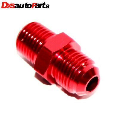 """New Brand 6AN AN-6 TO 1/4"""" NPT Male Thread Aluminum Anodized Fitting Adapter RED"""
