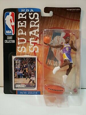 Kobe Bryant NBA Court Collection SUPER STARS Figure 98/99 Lakers Card Mattel