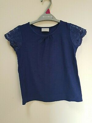 Girls Blue top from Matalan Age 4-5 Years