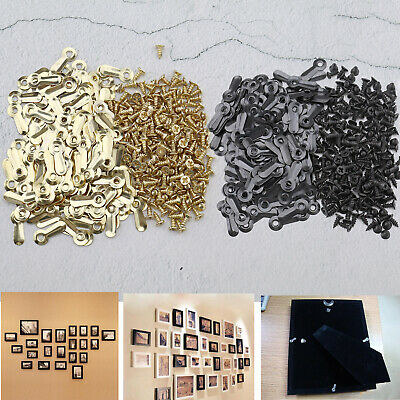 "200pcs 3/4"" Black/ Gold Frame Turns Button Fastener with Screws Accessories"