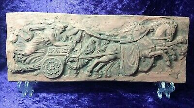 Magnificent late Roman/Byzantine Terracotta Frieze/plaque depicting a chariot