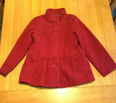 Girls Red Lined Jacket. Age 8 Years. Vertbaudet Brand