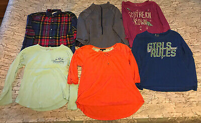 Girls Size Large 10-12 Old Navy Active Casual T Shirts Sweat Shirt Preowned
